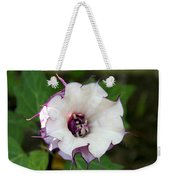 Double Purple Datura Weekender Tote Bag