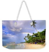 Double Rainbow At The Beach Weekender Tote Bag by Yhun Suarez