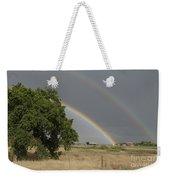 Double Rainbow Weekender Tote Bag