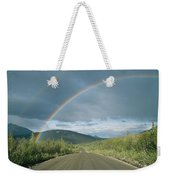 Double Rainbow Over The Denali Highway Weekender Tote Bag