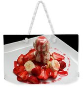 Double Scoop Strawberry Banana Shortcake Weekender Tote Bag by Andee Design