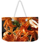 Double Tiger Lily Named Flora Pleno Weekender Tote Bag