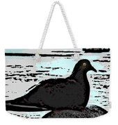 Dove At The Beach Weekender Tote Bag