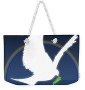 Dove Holding An Olive Branch With Weekender Tote Bag