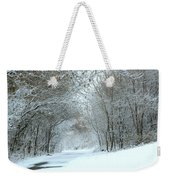 Down A Winter Road Weekender Tote Bag