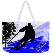 Downhill On The Ski Slope  Weekender Tote Bag