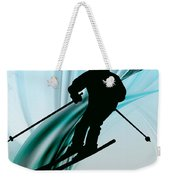 Downhill Skiing On Icy Ribbons Weekender Tote Bag