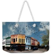 Downtown Bryan Texas 360 Panorama Weekender Tote Bag by Nikki Marie Smith