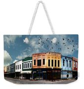 Downtown Bryan Texas Panorama 5 To 1 Weekender Tote Bag