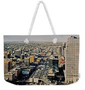 Downtown Calgary With The Canadian Rockies ... Weekender Tote Bag