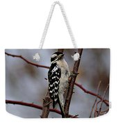 Downy Woodpecker 7 Weekender Tote Bag