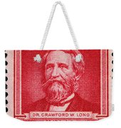 Dr Crawford W Long Postage Stamp Weekender Tote Bag