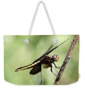 Dragonfly - Yellow Stripe Weekender Tote Bag