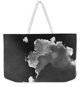 Dramatic Black And White Sunbeams And Storm Clouds Maine Fine Art Print Weekender Tote Bag