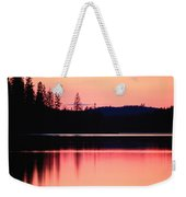 Dramatic Picture Of A Forest-edged Lake Weekender Tote Bag