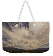 Dramatic Sky Over Mount Shasta Weekender Tote Bag