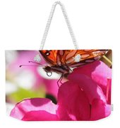 Dreaming Of Butterflies And Pink Flowers Weekender Tote Bag