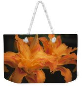 Dreamy Kwanso Daylily Pair Weekender Tote Bag