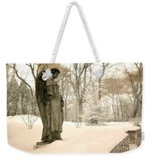 Dreamy Surreal Angel Sepia Nature Scene Weekender Tote Bag