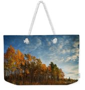 Dressed In Autumn Colors Weekender Tote Bag by Priska Wettstein