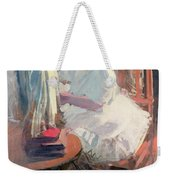 Dressing Her Doll Weekender Tote Bag by Claudio Castelucho