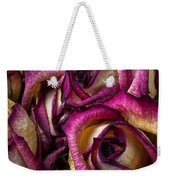 Dried Pink And White Roses Weekender Tote Bag