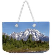 Driftwood And The Grand Tetons Weekender Tote Bag