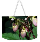 Drippy Lady Slipper Orchids Weekender Tote Bag