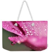 Droplet On Rose Petal Weekender Tote Bag