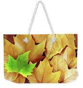 Dry Fall Leaves Weekender Tote Bag by Carlos Caetano