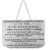Du Monceau: Title Page Weekender Tote Bag