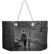 Dubrovnik In The Rain Weekender Tote Bag