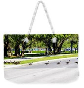 Duck Crossing Weekender Tote Bag