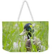 Duck In The Green Grass Weekender Tote Bag