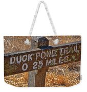 Duck Pond Trail Weekender Tote Bag