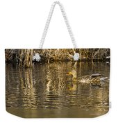 Duck Ripples Weekender Tote Bag