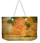 Ducks In An Autumn Pond Weekender Tote Bag