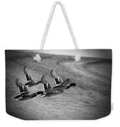 Ducks In Flight V2 Bw Weekender Tote Bag