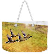 Ducks In Flight V4 Weekender Tote Bag