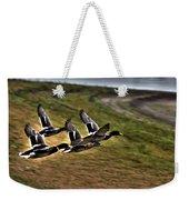 Ducks In Flight V5  Weekender Tote Bag