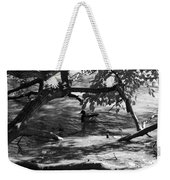 Ducks In The Shade In Black And White Weekender Tote Bag
