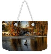 Ducks On Ice Weekender Tote Bag