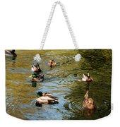 Ducks On The Water Weekender Tote Bag
