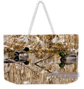 Ducks Reflect On The Days Events Weekender Tote Bag