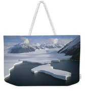Dugdale And Murray Glaciers Antarctica Weekender Tote Bag by Tui DeRoy