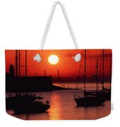 Dun Laoghaire Harbour, Co Dublin Weekender Tote Bag