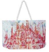 Duomo City Of Milan In Italy Portrait Weekender Tote Bag
