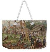 Dutch & Native American Trade Weekender Tote Bag