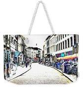 Dutch Shopping Street- Digital Art Weekender Tote Bag