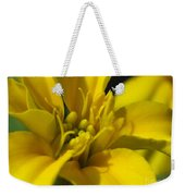 Dwarf French Marigold In Disco Yellow Weekender Tote Bag